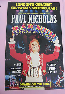 Barnum London Musical Theatre Poster Paul Nicolas