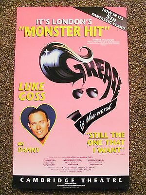 Grease London Musical Theatre Poster Luke Goss Bros