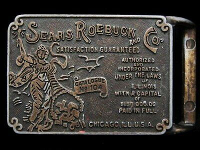 II23150 VINTAGE 1970s ***SEARS ROEBUCK AND CO.*** OLD MAIL ORDER CATALOG BUCKLE