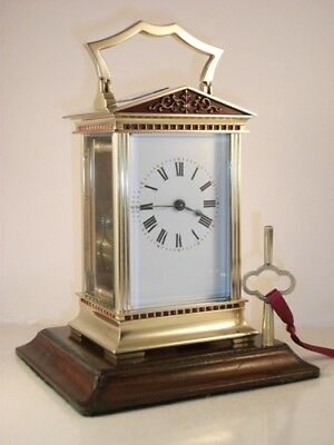 Antique French carriage clock C1910. With key. Restored & serviced in Jan. 2019