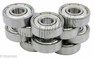 "Pack/Set of 10 R 12 ZZ Ball Bearings 0.75 inch 3/4""inches Bore diameter Imperial"
