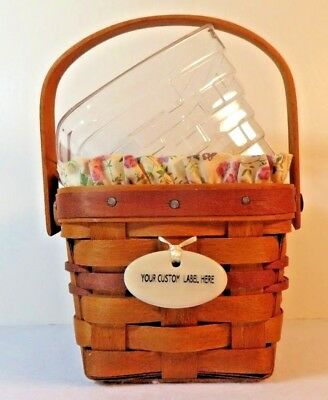 Longaberger MAY Series 1990 VIOLET Basket, Liner, Protector 1st in May Series