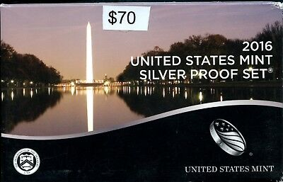 Uncirculated 2016 S United States Mint Silver Proof Set w/CoA ME107