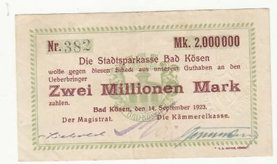 136 Bad Kösen, 2Mio.Mark, 14.9.23