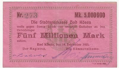163 Bad Kösen, 5Mio.Mark, 14.9.23