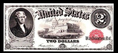 BEP Proof Print or Intaglio - Face of 1917 $2 Legal Tender Note U.S. Note