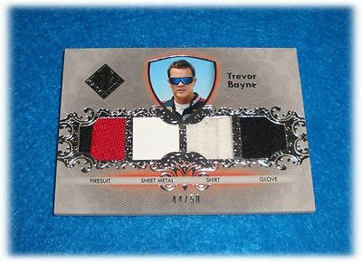 2012 Press Pass Total Memorabilia Trevor Bayne Quad Tm-Tb Race Used 44/50
