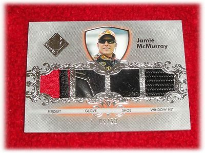 2012 Press Pass Total Memorabilia Jamie Mcmurray Quad Tm-Jm Race Used 8 /50