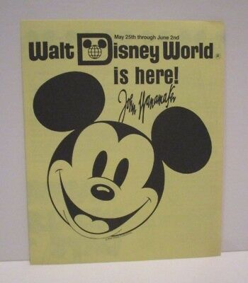 Vintage 1985 Disney John Wanamaker's Department Store Eastern Airlines Pamphlet
