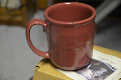 Longaberger Pottery Coffee Mug Cup Paprika red Woven Traditions
