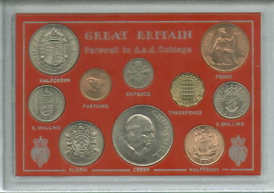 Great Britain Farewell to the £sd System Pre-Decimal Old Money 10 Coin Gift Set