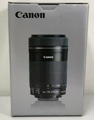 Canon EFS 55-250mm f/4-5.6 IS STM Camera Lens Brand New!