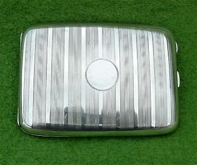 FAB PILLOW SHAPED SILVER CIGARETTE / CARD CASE - BY JAMES WALKER 1922 - 4.94 ozt