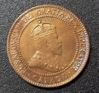 1910 Old World Foreign Coin CANADA Large Cent KM8 King Edward VII