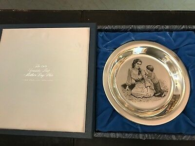 Franklin Mint Sterling Silver Mother & Child Plate by Irene Spencer