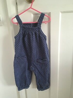 mini boden girls playsuit/dungarees 12-18 months