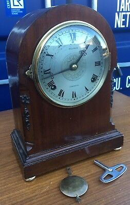 antique mahogany Mantle Mantel Bracket Clock