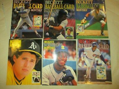 6 1990 Beckett Baseball $  guide Griffey Canseco Grace Yount Mattingly Sierra