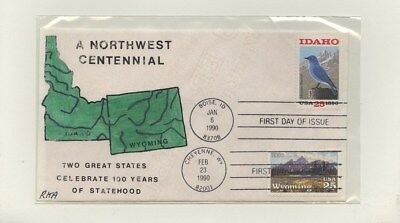 US - Hand-painted FDC Lot # 66