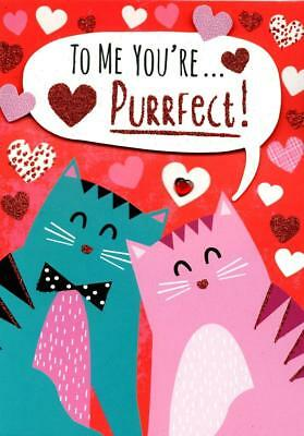You're Purrfect Valentine's Day Greeting Card Hand-Finished Valentines Cards