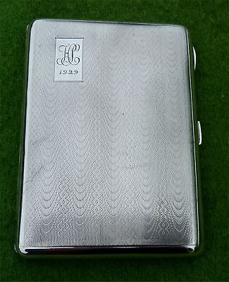 ESPECIALLY NICE LOOKING SOLID SILVER CIGARETTE / CARD CASE DATED 1929 - 5.47 ozt