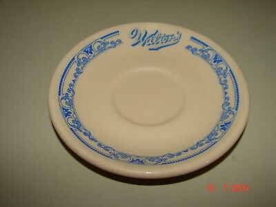 1940s Walton's Lunch Restaurant Saucer Dish From Boston Braves Field, INCA WARE