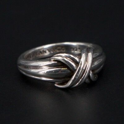 Sterling Silver - 1990 Tiffany & Co. Love Knot Ring - Size 7.5 - 6g
