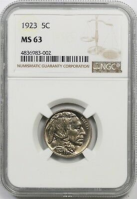 1923 5C NGC MS 63 Buffalo Nickel