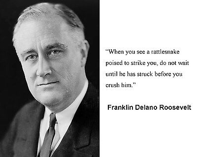 President Franklin Delano Roosevelt  FDR  Quote 8 x 10 Photo Picture Portrait