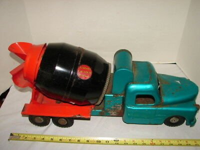 Vintage Large Structo Truck Cement Mixer Ready Mix Construction Concrete Restore