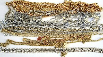 Great Lot of Vintage Chain Necklaces Signed & MORE!