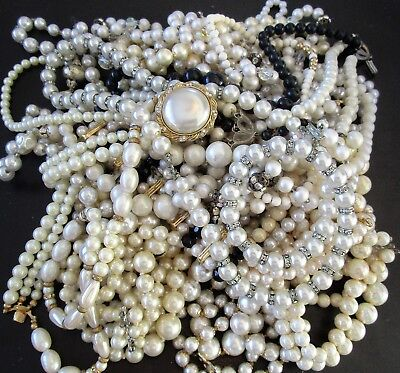 Beautiful Lot of Vintage Faux Pearl Necklaces