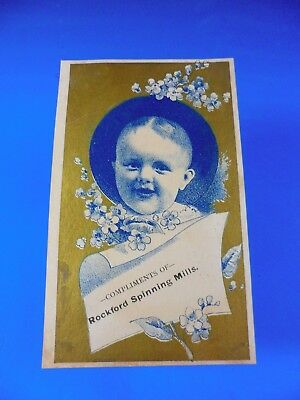 Small Baby Advertising Card Compliments of Rockford Spinning Mills
