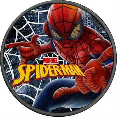 Tuvalu 2017 $1 MARVEL SPIDERMAN 1 Oz .999 Ruthenium Colored Silver Coin