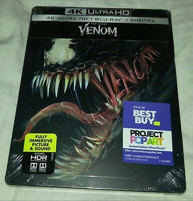 New Venom 4K UHD + Blu-ray/Digital Steelbook™ Bestbuy Exclusive **Small Dent**