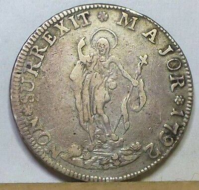 Italy Genoa 4 Lire 1792 Fine Condition