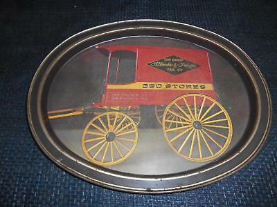 Old Vtg THE GREAT ATLANTIC & PACIFIC TEA Co. A&P Metal SERVING TRAY Advertising
