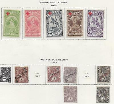 11 Ethiopia Semi-Postal & Postage Due Stamps from Quality Old Album 1896-1935
