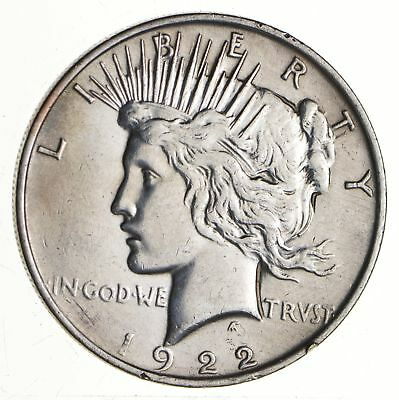Early - 1922 - Peace Silver Dollar - 90% US Coin *655