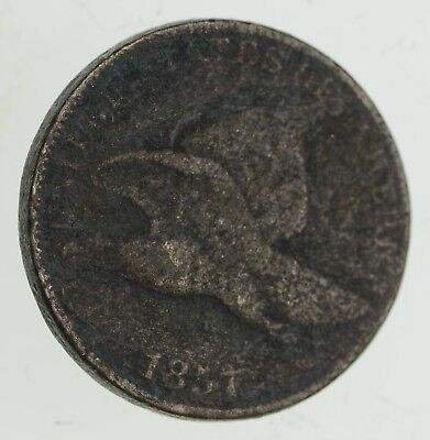 1857 Flying Eagle Cent - Very Tough - Issued for only 3 Years *714