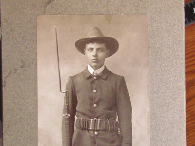 Rochester Minnesota Spanish American War armed soldier cabinet photograph