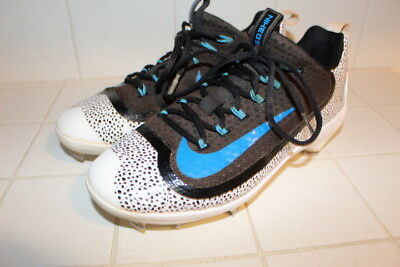 new concept a7d6d 754ff Nike Pro Huarache 2Kfilth Elite Baseball Cleats 8 Metal Spikes Black Blue  Trout