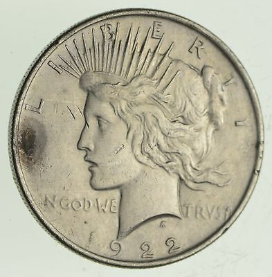 Early 1922 Peace Silver Dollar - 90% US Coin *269