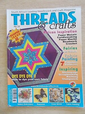 Threads & Crafts #33 (South Africa)~Embroidery~Cross Stitch~Knit~Bear~Patchwork