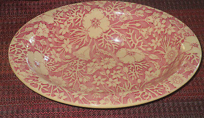 Wallace China Desert Ware Oval Serving Bowl - Pink