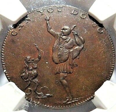 MIDDLESEX - HESLOP'S CONDER TOKEN DH - 336b - NGC MS - 62 - NO RESV
