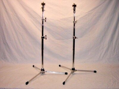 2 Absolutely Superb Vintage 1968 Slingerland Model 33F Flat Base Cymbal Stands
