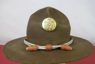 WWII US Army M1911 Montana Peak Campaign Hat - Engineer Hat Cords &  NCO Emblem
