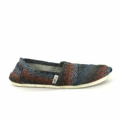 7 - TOMS Black Multi Colored Woven Knit Womens Classic Flats Shoes 0000MB