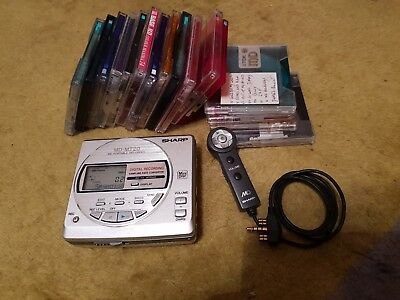 Sharp MD-MT20 Minidisc Recorder player with Remote